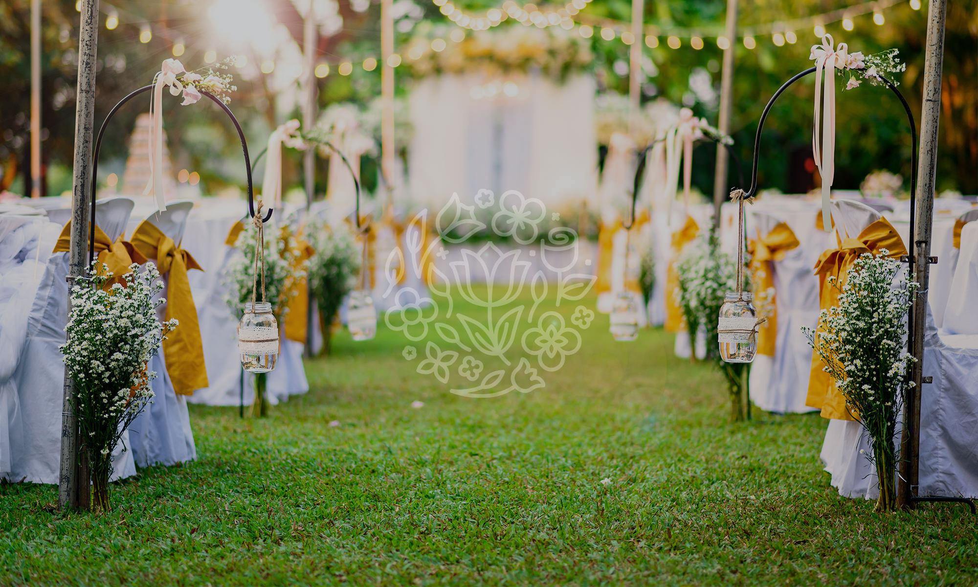freie Trauung und Hochzeit im Garten